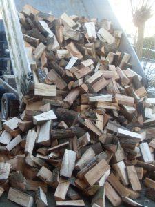 Los gestort hout - of in big bag